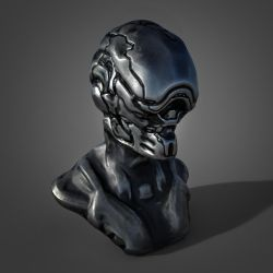 Sci Fi Bust Sculpting Practice by boozer