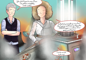 River Song meets The Twelfth by ice-cream-skies