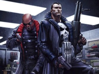 Punisher and Blade by Clayton Crain by Superman8193