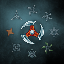 Shurikens for game by Vadich