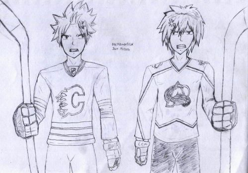 Fairy Tail - NHL Uniforms 01 by VoltsPower2K