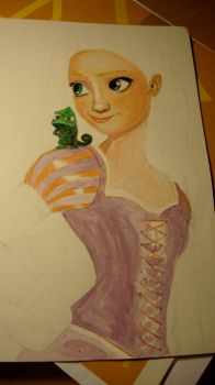 Tangled WIP 4 by theresebees
