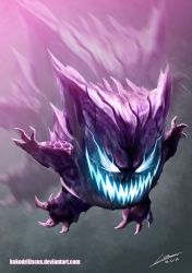 Scary Gengar by Dragolisco