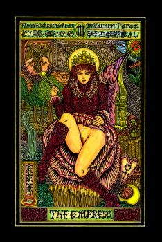Aesthetic Beautiful Girls Tarot3 TheEmpress by sawsin