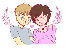 [Point Commission] Cuties in Love by SoftieLocks