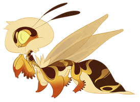 Wasp Taur-mantis (closed) by Shegoran