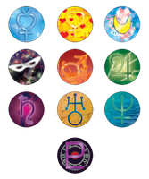 Sailor Moon Buttons by christi-chan