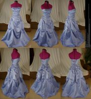 Scrunched Periwinkle Dress Stock by Melyssah6-Stock