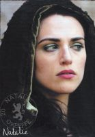 Morgana (Katie McGrath) - Oil Pastels by NataliesCourageClub