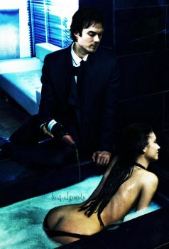 Ian and Nina in the style of 50 shades of gray by ToriaChernenko