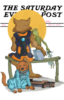Rocket and Groot - Little Spooners by jmascia