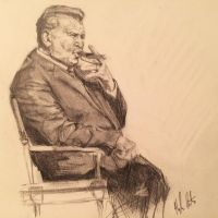 Mike Ditka (from photo, drawn for a friend) by hrutger