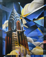 Chrysler Painting - White Collar by Nioell