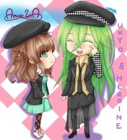 Amnesia - UKYO and HEROINE by unnicia