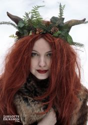 Deep in the Woods head wreath by liselotte-eriksson