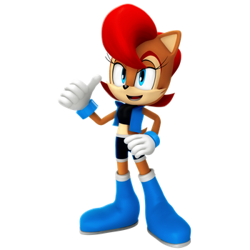 Lost Render: Sally Acorn Render (Nibroc Design) by Nibroc-Rock