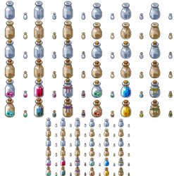 Sprite Might - Icons and Props - Bottles 01 by spritemight