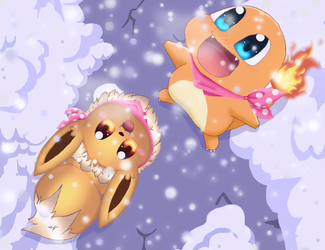 PMD - When the Snow Falls by cyndaquil1998