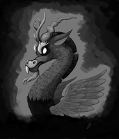 Discord Grayscale Portrait by theinkBot