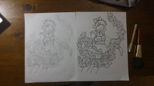 Magical Girl Coloring Book - Project Launch Soon! by SarahsPlushNStuff