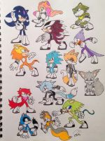 Sonic Character(Sketchdump)1 by SoooThisIsArt----Wow