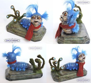 ''Just a worm'' Labyrinth inspired Worm Statue by Ideationox