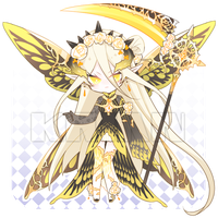 [AUCTION CLOSE]CHROME YELLOW BUTTERFLY by krianart
