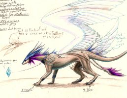 Dragonsona Reference (winged form) by CryoftheBeast