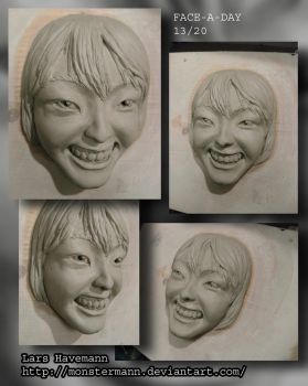 FACE-A-DAY 13/20 sculpture by Monstermann