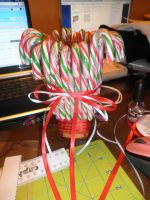 Candy Cane Centrepiece by Ayjah