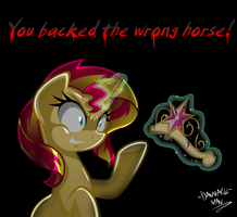 Commission: You Backed The Wrong Horse! by DANMAKUMAN