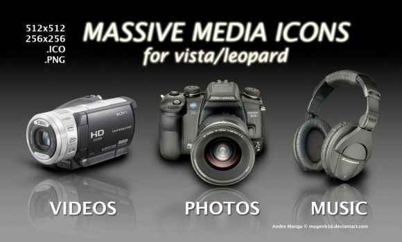 Massive Media Icons-Win by MugenB16