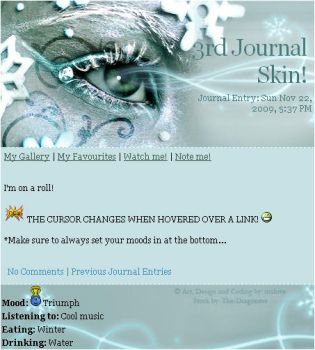 Winter Eye Journal Skin by mxlove