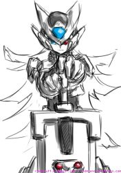 Rockman ZX0 Main Art Rough Sketch by rnds