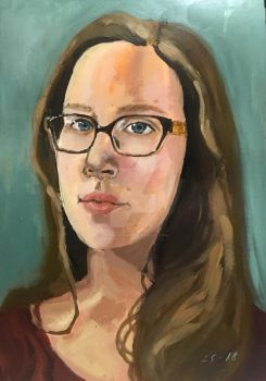 Selfportrait with glasses by Lauralionne