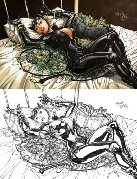 Catwoman pin-up by CarlosGomezArtist