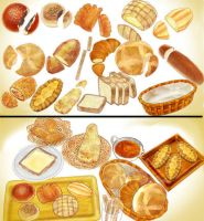 bakery bread set pack download MMD by Hack-Girl