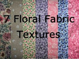 7 Floral Fabric Textures by Rubyfire14-Stock