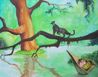 How To Piant The Jungle Book in Watercolor by Steven-Powers-SMP
