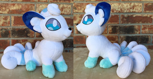 Sitting Alola Vulpix Fan Art Plushies for Sale by The-Crafty-Kaiju
