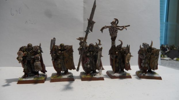 Chaos Warriors of Nurgle by Dible