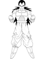 Raditz (Good) - Lineart WIP by Consiglii