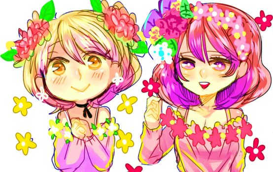 Hanayo And Maki ! by KinoAzusa