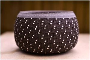 Chawan Porcelain Dots by ClaireBriant