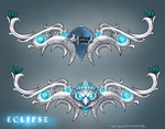 Eclipse bow design for Tyrande Whisperwind by ZFischerillustrator