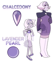 Chalcedony and Lavender Pearl by watergems