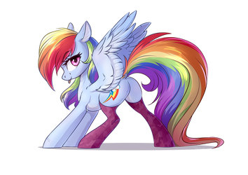 rainbow dash by Vincher