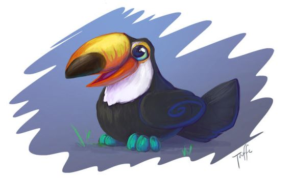 Painting 01 - Toucan by SweetLhuna