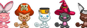 Cats In Hats by debureturns