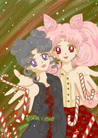 Diana and Chibiusa Candy cane by MarieZombie